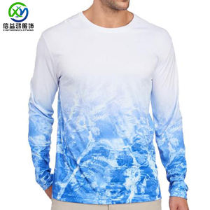 Custom 2019 High quality out ocean dye sublimation dry fit oversize XXL UPF 50 UV protection fishing mens long sleeve t shirt