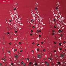 Wholesale price luxury lace embroidery fabric, african wedding lace fabric