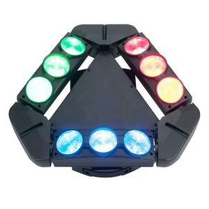 LED spider rgbw 9pcs 10W luce In Movimento testa Luci per dj