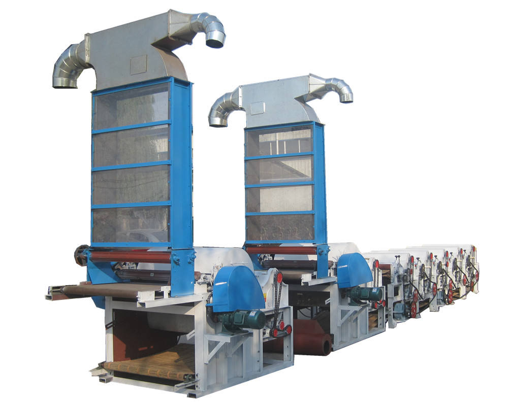 Textile waste recycling machine production line for old clothes/yarn waste/waste cotton and polyester