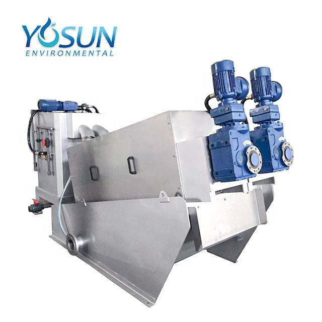sludge dewatering machine screw press for sludge treatment