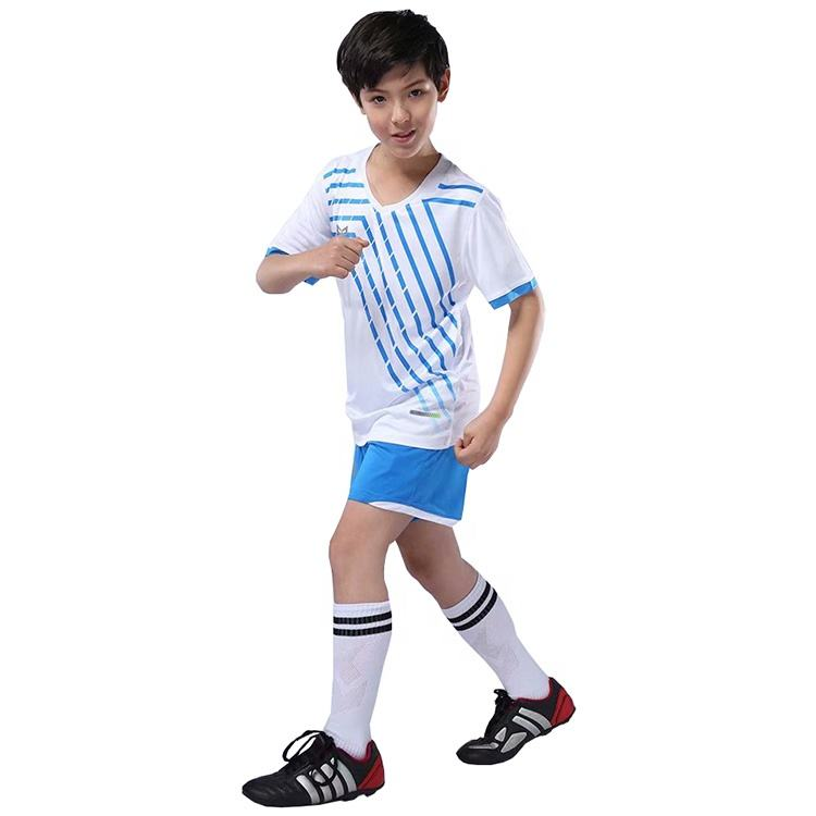 Ptsports en gros couleur couture <span class=keywords><strong>enfants</strong></span> maillot de football Col V <span class=keywords><strong>enfants</strong></span> football T-shirt
