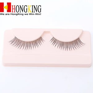 OEM 100% human hair eyelashes, clear band, customized the box