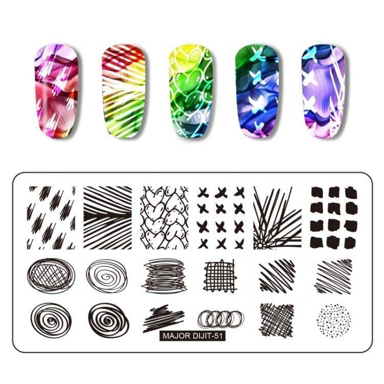 Nail Art Design Plate Wholesale 12cm Nail Plate 2019 New Coming Nail Art Stamping Plate In Stock
