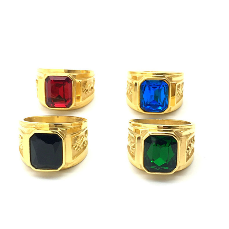 2019 new arrival customer design mens turquoise rings can laser logo jewelry
