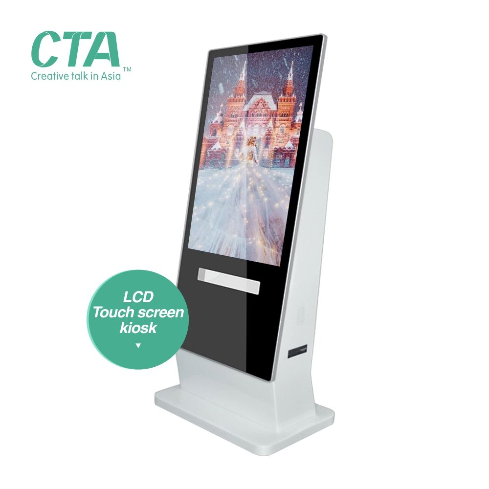 Standfuß android lcd digital signage kiosk mit wifi und software