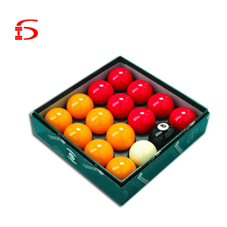 "Cheap Pool Table Balls RED & YELLOW 2"" Inch Full Size UK Standard Set"