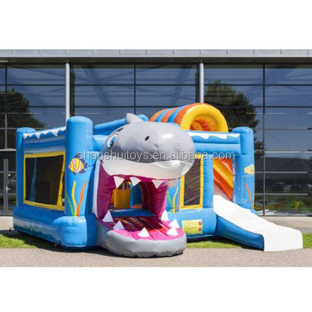 outdoor Inflatable Toy shark jumping bouncer/ Inflatable bouncing castle for sale