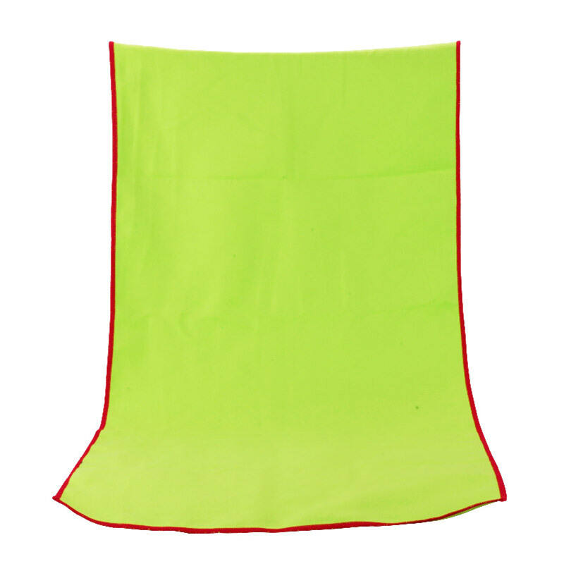 Absorbent quick dry antimicrobial custom ultra - fine fiber square beach towel Fleece sports towel