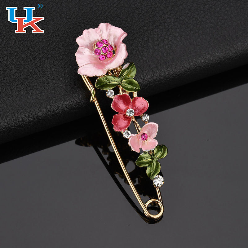 Scarf buckle pin large brooch collar needle coat cardigan with accessories brooch tulips