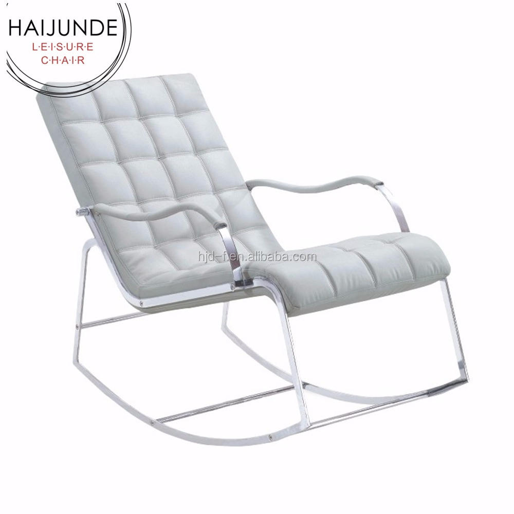 Chaise lounge sillas sacudiendo sillas de acero
