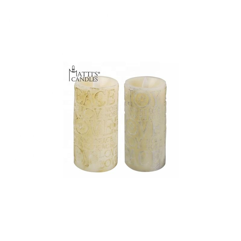 Wholesale Color Changing Soy Candle/White Candle/Flameless Candle