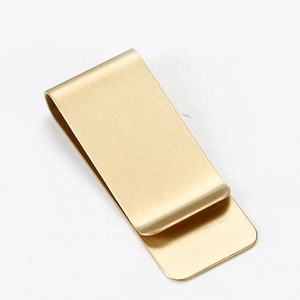 Wholesale Men Brass Material Business Simple Classic Money Clip Metal