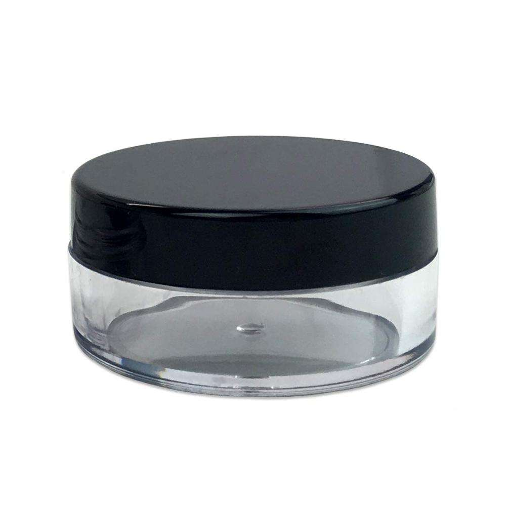 3g 5g 10g 15g 20g 30g PS Transparent Clear Plastic Cosmetic Jars Empty Sample Container for Eye Cream, Eye Shadow