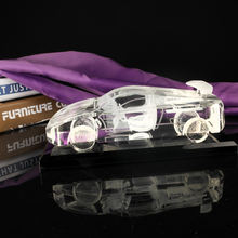 High Quality 3D Laser Engraving Crystal Glass Car Model For Gifts & Room Decoration