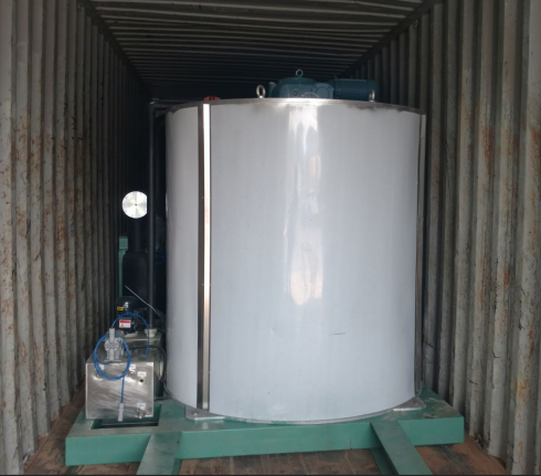 5T Containerized flake ice making Plant for concrete cooling