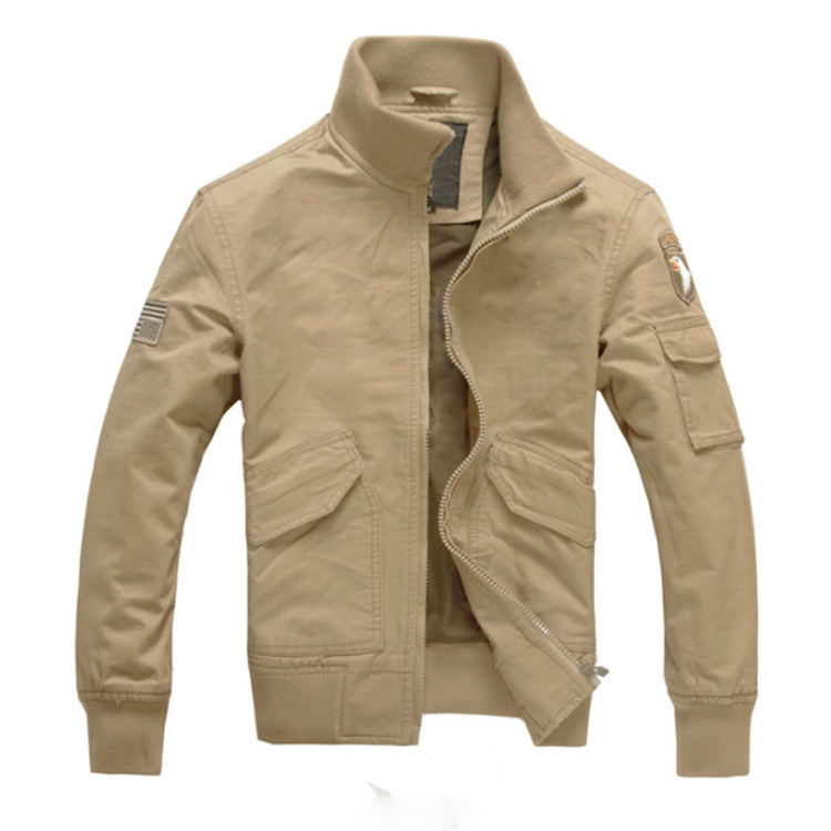 Custom Fashion 100% Cotton Male Coats With Silk Inside Spring Outdoor Men Jacket Clothes