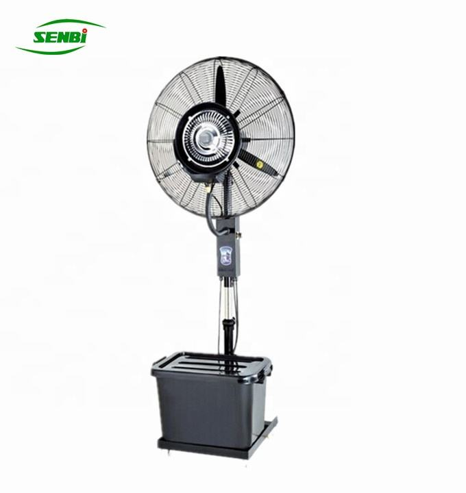 china factory 26'' 30'' outdoor electric industrial centrifugal water mist fan with remote control