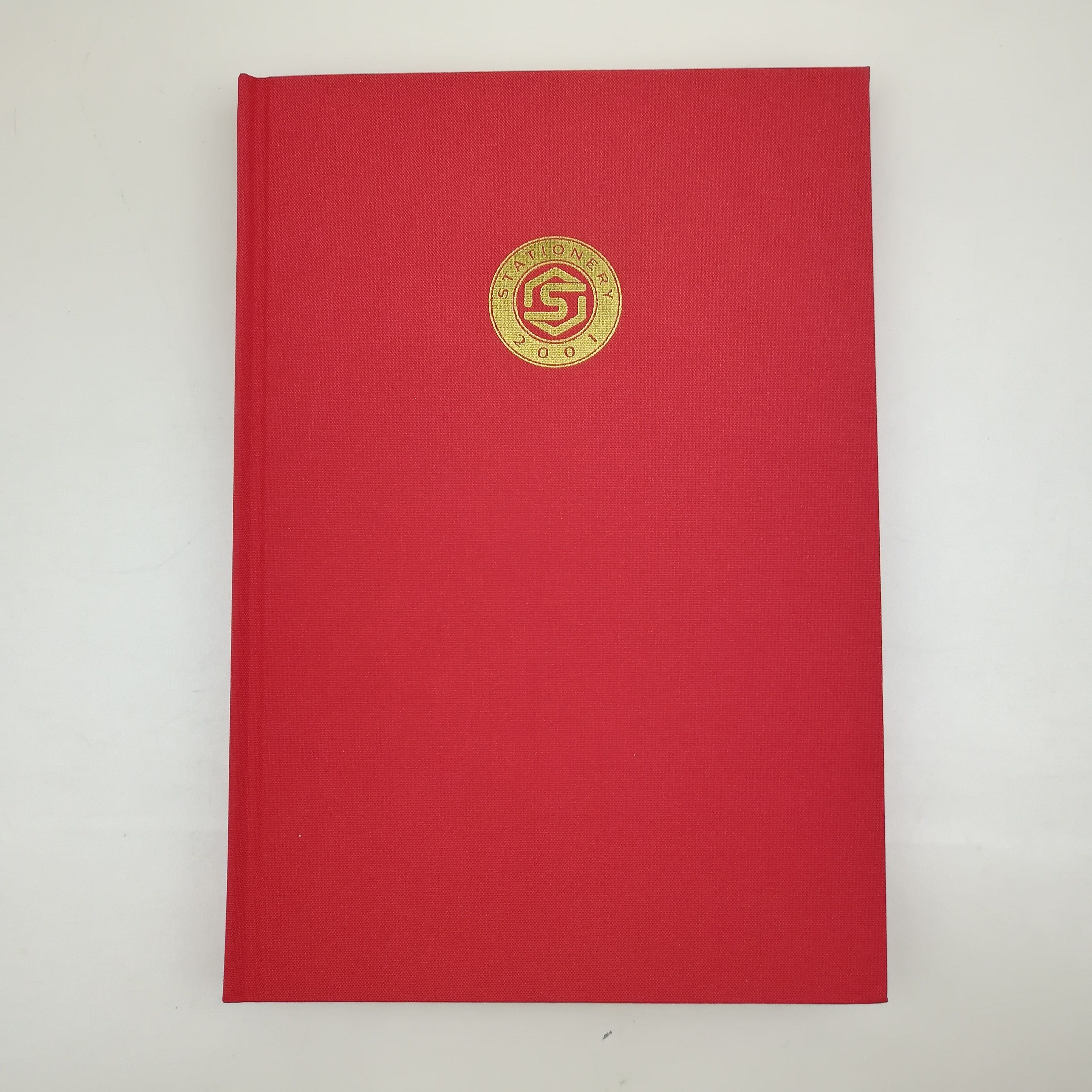 linen perfect bound notebook with golf foil stamping logo