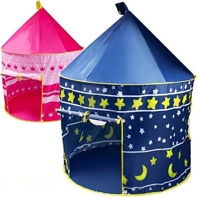 Pop up Princess Castle Play Tent Durable Girls Boys Pop Up Play House Toy for Indoor and Outdoor Kids Game