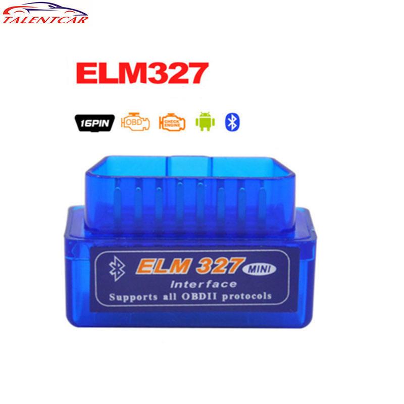 V2.1 mini EML327 Bluetooth ELM327 OBD2 interfaz ELM327 V2.1 OBD2 escáner Herramienta de análisis de diagnóstico lector de código de coche V2.1 mini ELM327