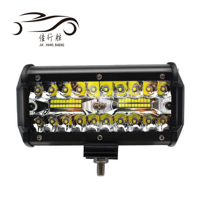 JHS Factory Supply 7 inch 120W 3 Rows LED work light 6000K 9-36v 120W Led light Bar for Truck offroad light