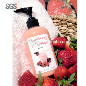 Organic body white lotion Milkshake strawberry body lotion