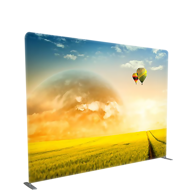 Tension fabric custom printing double sided fabric tube display portable backdrop with stand