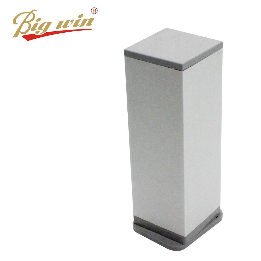 China manufacturer Aluminum square legs adjustable table base with matt color ready to ship sofa leg