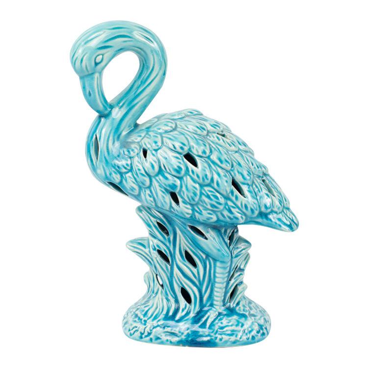 Squisito design texture <span class=keywords><strong>scanalata</strong></span> del commercio all'ingrosso a buon mercato di ceramica flamingo decorazione della casa