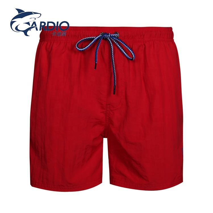 Solid color breathable boardshorts sporty exercise red mens shorts for men