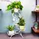 China Factory Luxury Outdoor Plant Pots With Stand Metal
