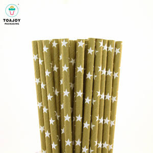 Wholesale biodegradable solid color paper drinking straw
