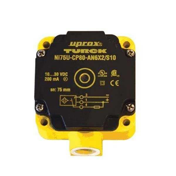 Nouveau TURCK NI75U-CP80-AP6X2-H1141 3 fils DC Inductive Capteurs De Proximité Interrupteur