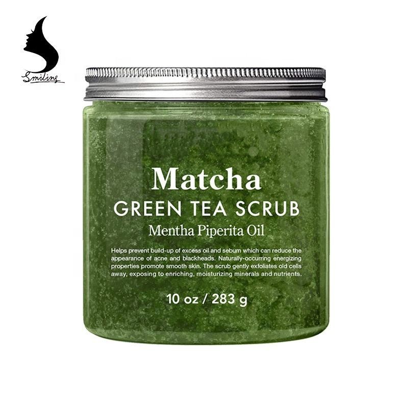 OEM Skin Whitening Soft Exfoliating Dead Skin Removal Matcha Green Tea Body Scrub Cream