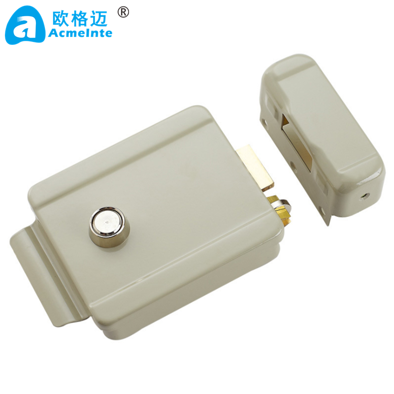 Electric Rim Lock with Double Cylinder for Access Control System