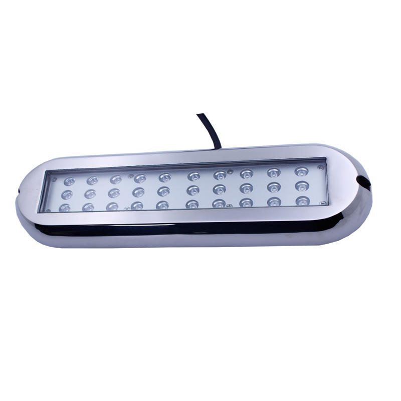 90w Surface Mount ip68 Green Rectangle Led Underwater Light Boat Running Yacht light