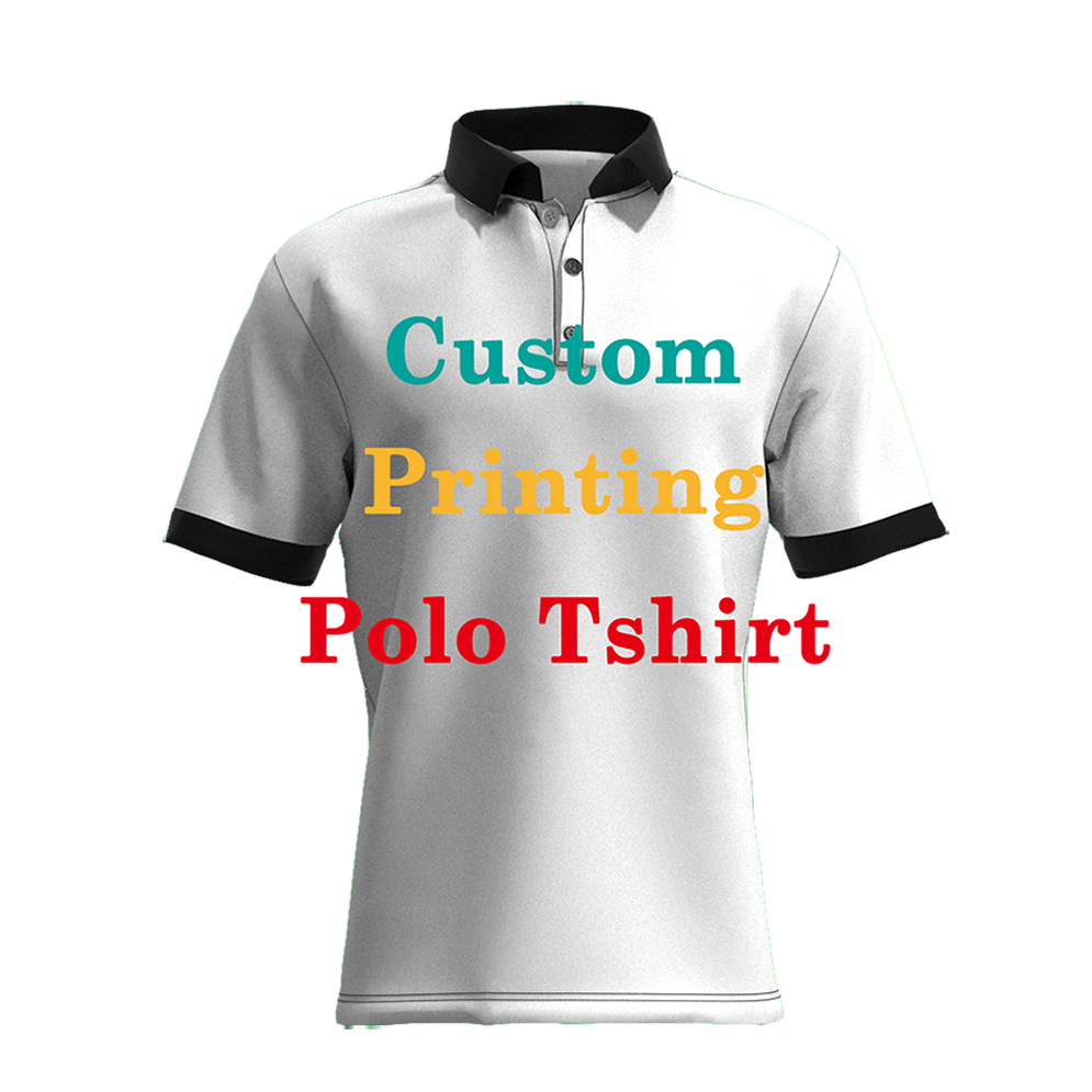 Print On Demand Wholesale Custom Print 3D Girls High Quality Polo Shirt, Custom Printed Clothing Dropship Customised Polo Shirt/
