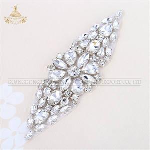 Crystal Rhinestone Applique Trimming For Bridal Crystal Sash Wedding Belt