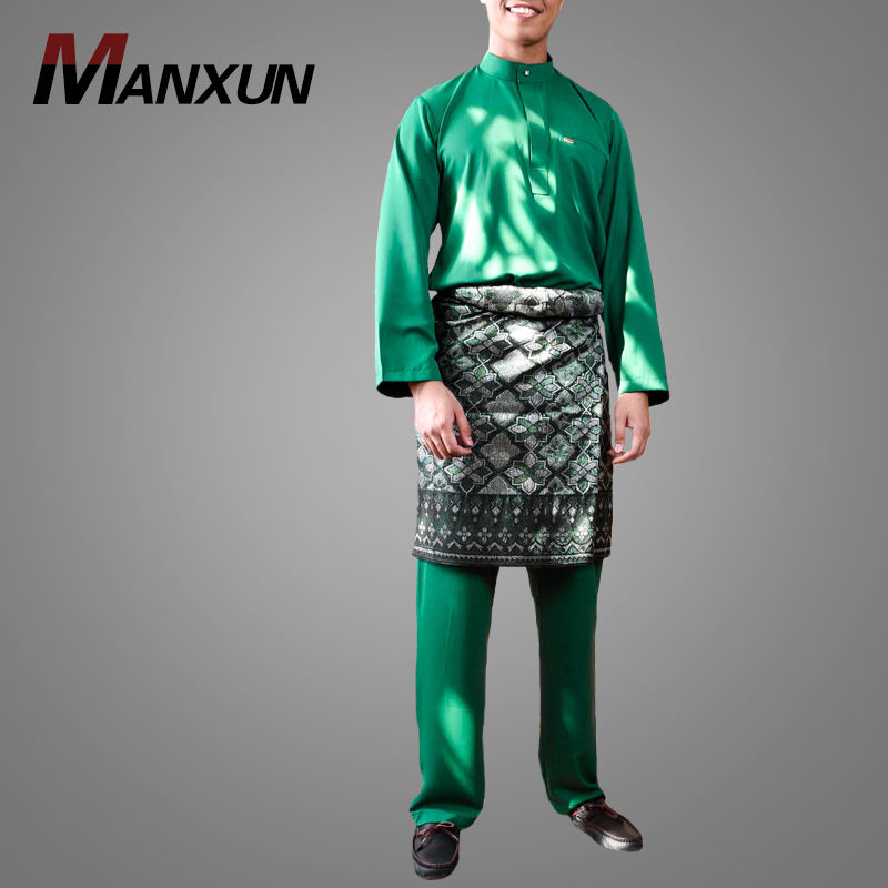 2019 New Muslim Ramadan New Style Islamic Clothing Muslim Men Thobe Ethnic Clothing