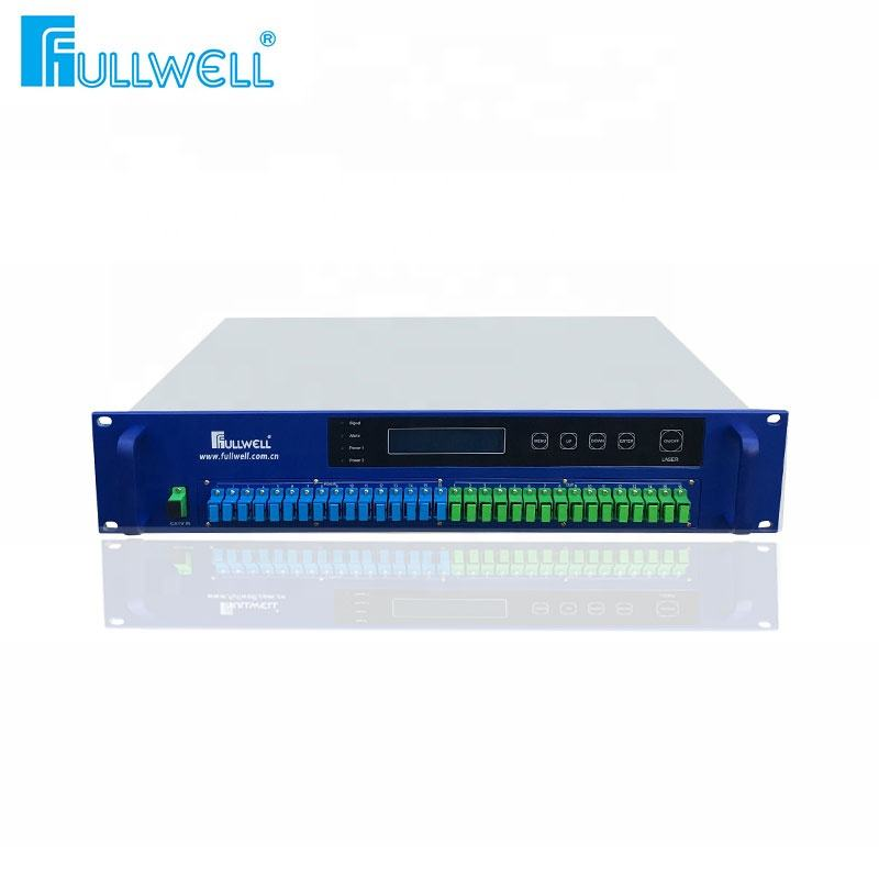 Logo Customization Catv Edfa Fullwell 1550nm CATV GEPON 8 16 32 64 Ports WDM EDFA