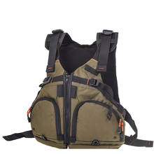Nylon Fly Fishing Life Vest Multifunction Breathable Backpack Fishing Vest Fast Drying Lure Reel Fishing Gear Vests Pesca