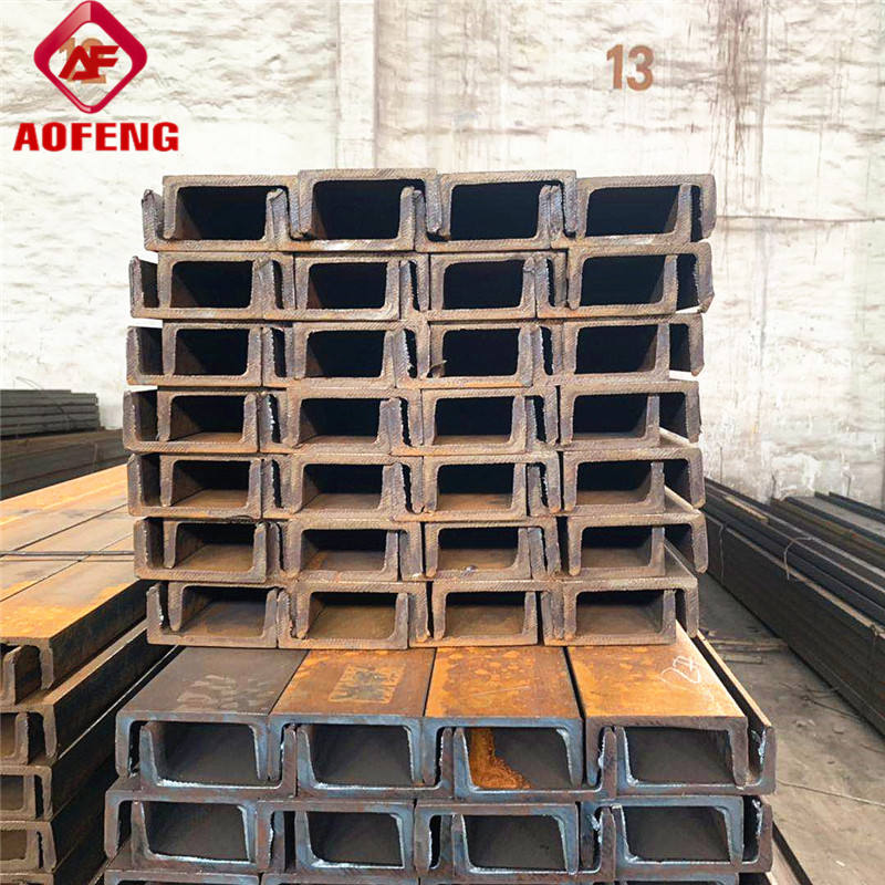 JIS3101 SS400 ATSM AISI DIN GB BS JIS Hot Rolled Carbon channel Steel U C Type Channel