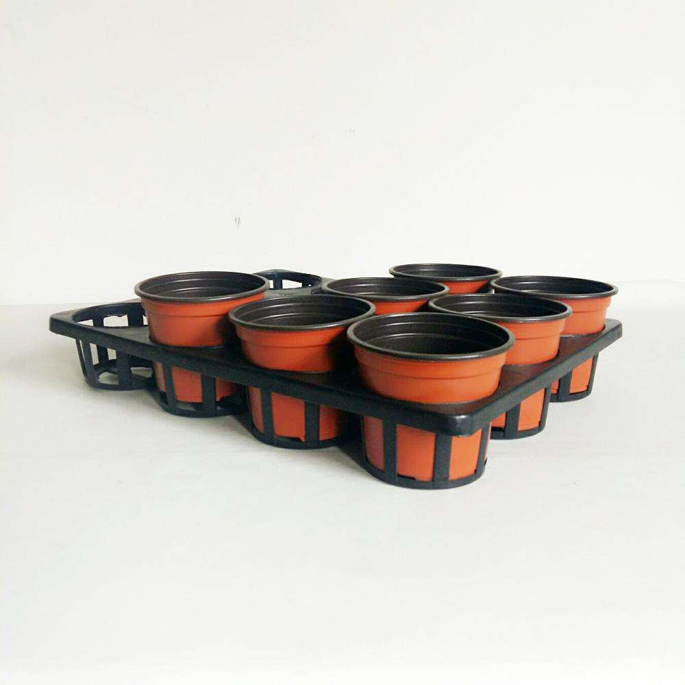 Plastic flower pots and carry tray frame nursery pot on the holes kit tray