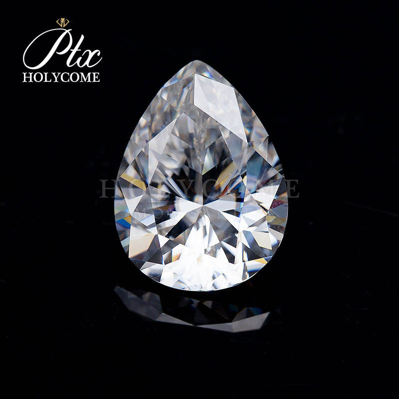 High Quality Manufacturer Wholesale Moissanite DEF White Pear Cut 5x7mm