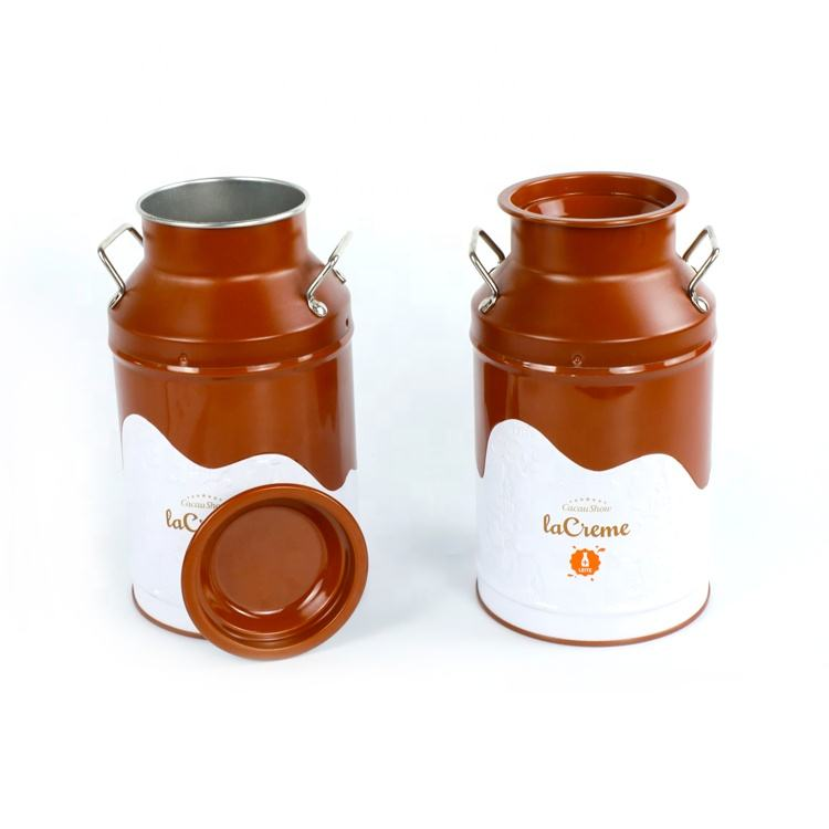 Hot sale milk chocolate tin can storage tin can