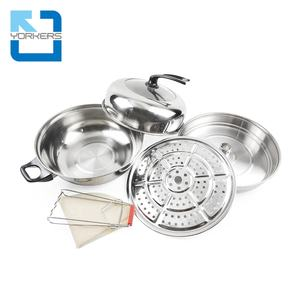 Multi-functional Soup Cook Pots Food Steamer Stock Stainless Steel Steam Cooking Pot