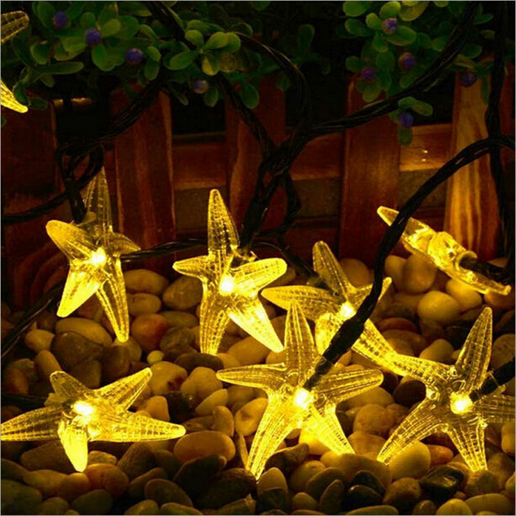 Solar String Light 20 Lampu Bintang Laut Outdoor
