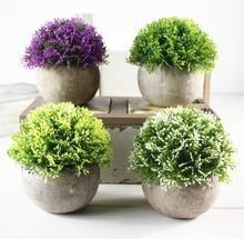 V-3062 4 Pcs Mini Artificial Potted Plants Small Artificial Succulents Plants For Office Desk Decoration