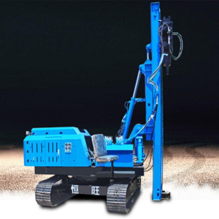 Tipo pneumático crawler pile driver 6 m pile driving machine